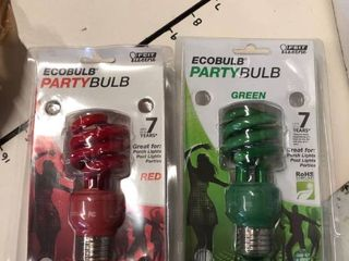 Evobulb red and green light bulbs 3 red 4 green