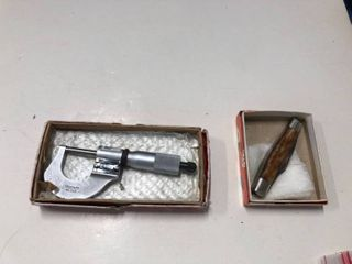 Starrett micrometer and pocket knife