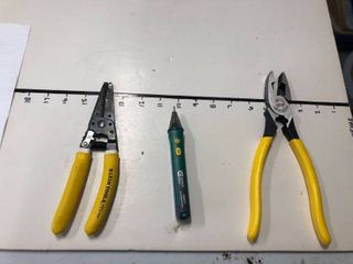 New Klein strippers  AC voltage detector  and pliers