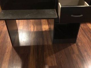 Black Desk w hutch 38x19x41