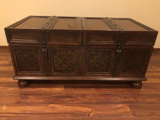 Coffee table with built in storage 24x47 minor damage