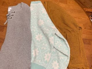 Set of three sweaters size small