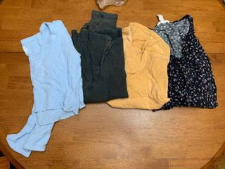 Four shirts size small