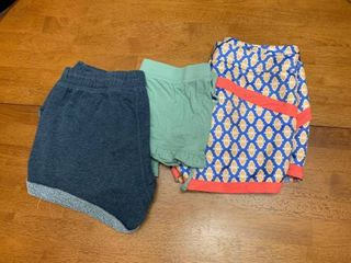 Three pairs of shorts size small