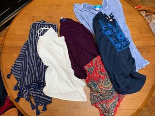 Two shorts  one top and three shirt dresses size small