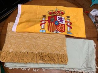 Full size duvet cover  throw and flag of Spain
