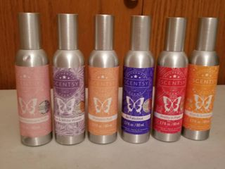 Scentsy room sprays set of 6  new