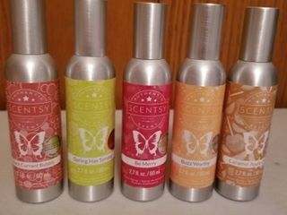 Scentsy room sprays set of 5  new