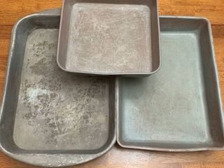 Three baking pans