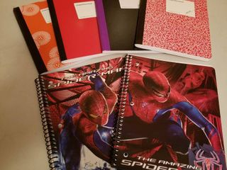Composition books and spiral notebooks