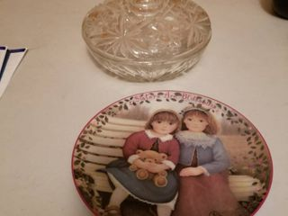 Decorative plate numbered and candy dish