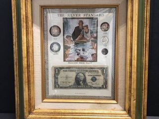 Silver Standard framed money