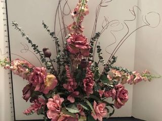 Faux flower arrangement