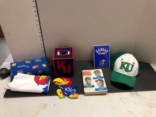 Assorted KU items and baseball guide