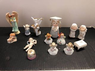 Assorted angel figurines