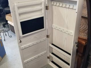 Over the door jewelry cabinet with lock 45 x 14 1 2
