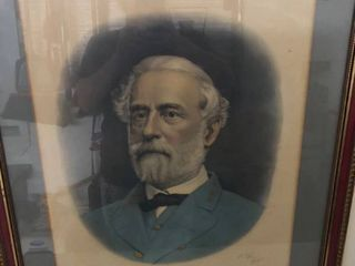 Robert lee portrait framed photo