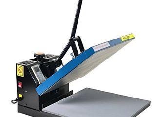 Fancierstudio Power Heat press Digital Heat Press 15 x 15 Sublimation Heat Press Rhinestone Heat Press T Shirt Heat Press 15x15 B BlK