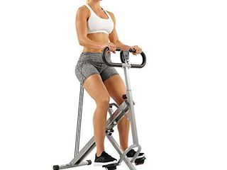 Sunny Health   Fitness Squat Assist Row N Ride Trainer for Glutes Workout with Training Video