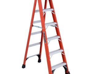 louisville ladder FS1406HD 375 Pound Duty Rating Fiberglass Step ladder  6 Feet
