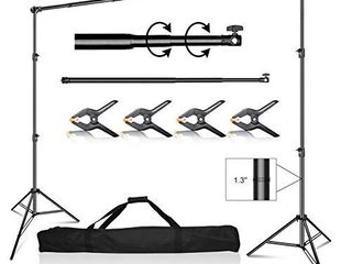 Emart 10 x 10 ft Photo Video Studio Heavy Duty Adjustable Backdrop Support System Kit  Photography Muslin Background Stand with Carry Bag