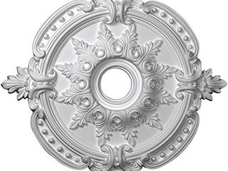Ekena Millwork CM28BE Benson Classic Ceiling Medallion  28 3 8 OD x 3 3 4 ID x 1 5 8 P  Fits Canopies up to 6 1 2  Factory Primed