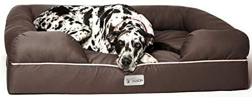 PetFusion Ultimate Dog Bed  Orthopedic Memory Foam  Multiple Sizes Colors  Medium Firmness Pillow  Waterproof liner  YKK Zippers  Breathable 35  Cotton Cover  Cert  Skin Contact Safe  3yr  Warranty