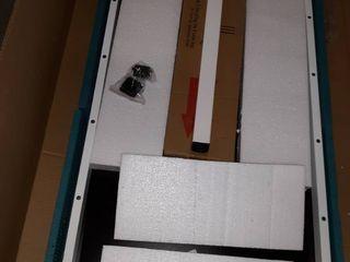 science table black wood and metal