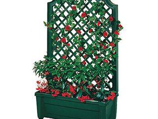 Exaco Trading Company 1 416Green Calypso Trellis  Green planters