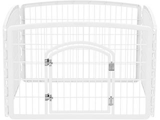 IRIS USA 4 Panel Pet Playpen with Door  only the plastic pieces Size 35 25 l x 35 25 W x 24 H CI 604  White