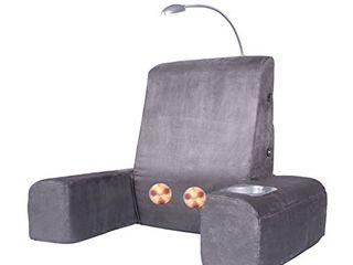 Carepeutic Backrest lounger with Heated Shiatsu Massage  15 Pound  Gray