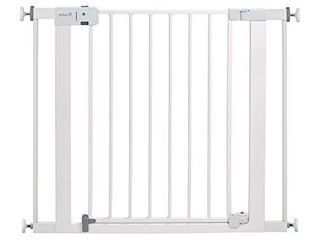 Safety 1st Easy Install Auto Close Baby Gate with Pressure Mount Fastening  White