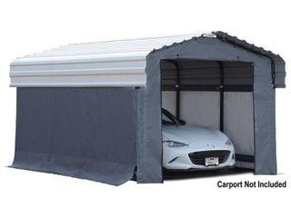 Arrow 10  x 15  Enclosure Kit for Carport  Grey