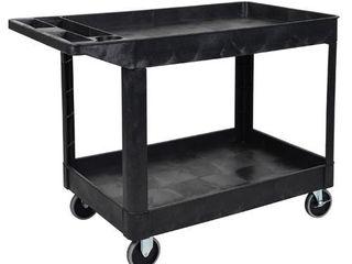 luxor XlC11 B Black Two Shelf Heavy Duty Utility Cart