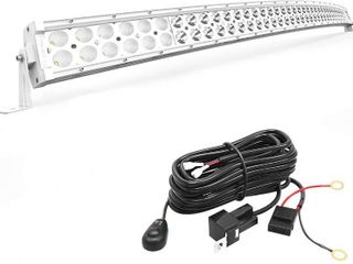 lED light Bar YITAMOTOR 288W White 50 inches Curved light Bar Off Road light Spot Flood Combo led Work light with Wiring Harness Compatible for Pickup  Jeep  Ford  Truck  SUV  ATV  UTV  4X4