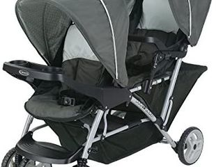 Graco DuoGlider Double Stroller   lightweight Double Stroller with Tandem Seating  Glacier