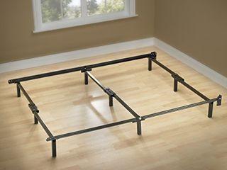 ZINUS Compack Metal Bed Frame   7 Inch Support Bed Frame for Box Spring and Mattress Set  Black  Full