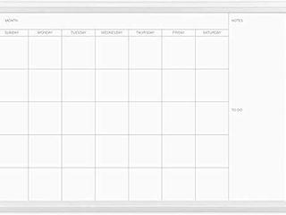 U Brands Magnetic Dry Erase Calendar Board  20 x 30 Inches  White Wood Frame  2075U00 01