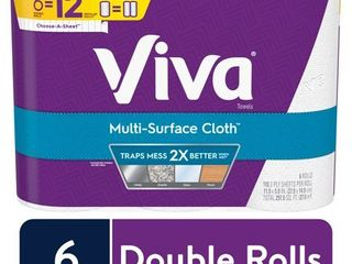 VIVA Multi Surface Cloth Choose A Sheet Kitchen Paper Towels  White  6 Double Rolls  110 sheets per roll 21 Rolls total