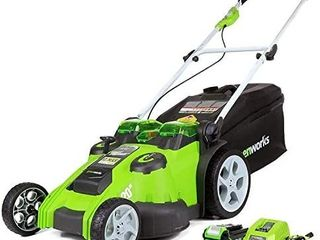 Greenworks 40V 20 inch Cordless Twin Force lawn Mower  5Ah Battery and Charger Included  25302