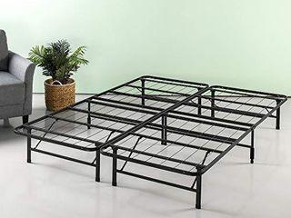ZINUS SmartBase Zero Assembly Mattress Foundation   12 Inch Metal Platform Bed Frame   No Box Spring Needed   Sturdy Steel Frame   Underbed Storage  Twin