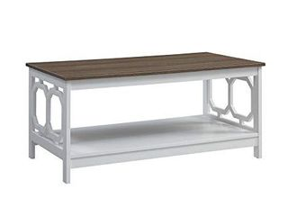 Convenience Concepts Omega Coffee Table  Driftwood Top   White Frame