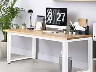 MONOMI Computer Desk 47  Study Writing Table for Home Office Modern Simple Style Office Desk Sturdy PC laptop Desk Walnut