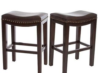 Christopher Knight Home Avondale Backless Faux leather Counter Stools  1 Pcs   Brown