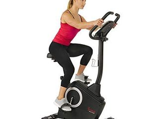 Sunny Health   Fitness Upright Exercise Bike with Electromagnetic Resistance  Programmable Monitor and Pulse Rate Monitoring   SF B2883