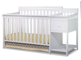 Sorelle Florence 4 in 1 Convertible Crib and Changer in White