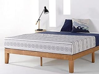 Mellow Naturalista Classic   12 Inch Solid Wood Platform Bed With Wooden Slat