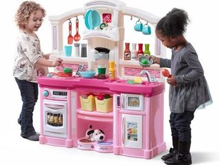 Step2 Fun with Friends Play Kitchen with 24 Piece Accessory Play Set   Pink