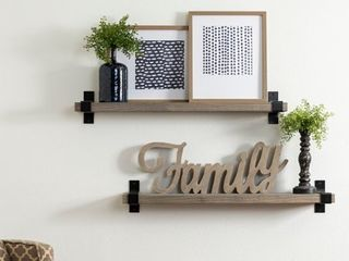 Del Hutson Designs Industrial Grace Bracket Shelf