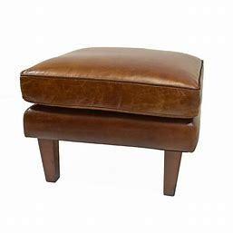 Strick   Bolton Prue leather Ottoman
